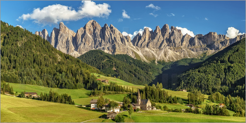Poster Funes - Dolomites, South Tyrol