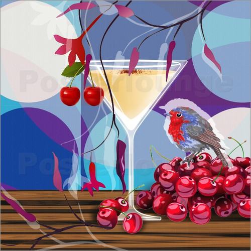 Poster Vintage Birdy Cocktail IV