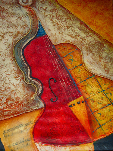 Michael artefacti - Violin violin music abstract painting orange structure