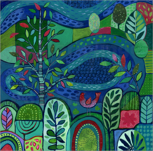 Janet Broxon - Bird by the Pond