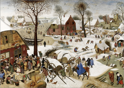Pieter Brueghel d.Ä. - Census at Bethlehem