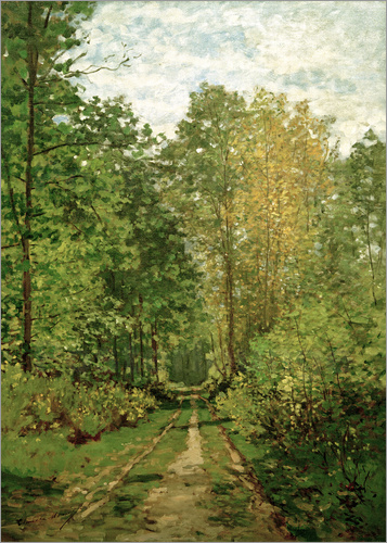 Claude Monet - Forest path