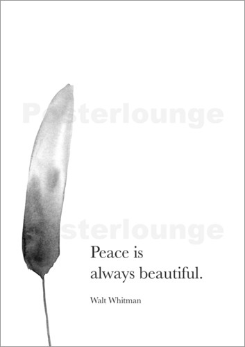 Poster Walt Whitman, Peace is always beautiful