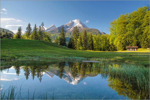 Poster Watzmann mountain in Upper Bavaria (Germany)