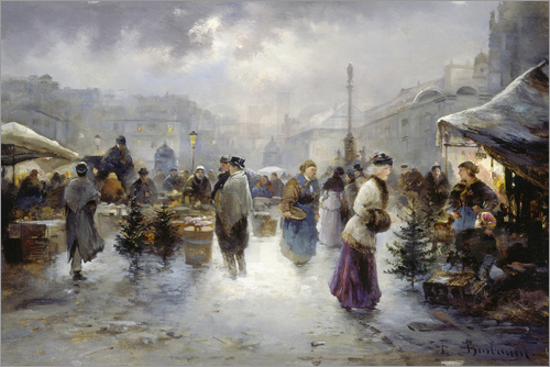 Emil Barbarini - Christmas market at the court in Vienna.