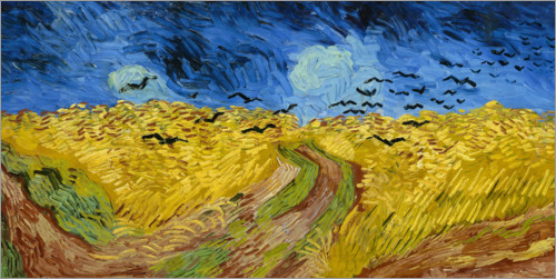 Poster Corn-field with Crows