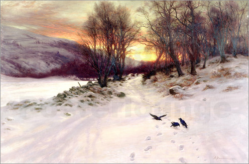 Joseph Farquharson - When the West with Evening Glows