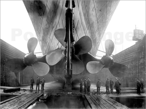 John Parrot - Shipyard workers with the Titanic