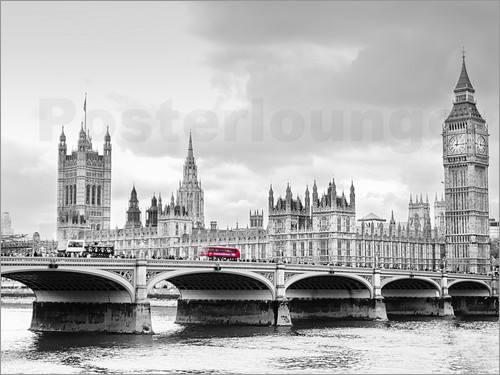 Edith Albuschat - Westminster bridge with look at Big Ben and House of parliament