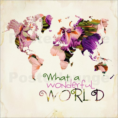 World Map Prints Posters From Free Delivery Posterlounge - Pink world map poster