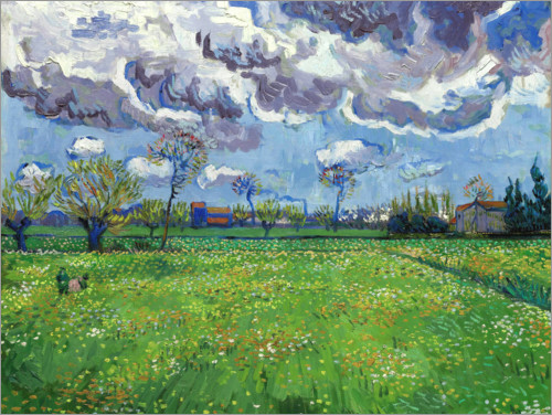 Vincent van Gogh - Meadow with flowers and leaden sky