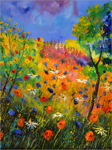 Poster meadow of wildflowers