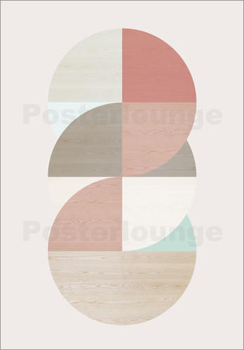 Poster Wooden circles