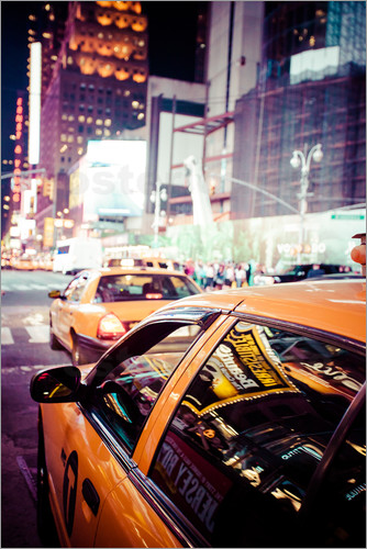 Yellow Cabs and city lights