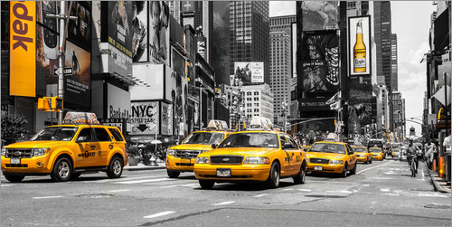 Hannes Cmarits - Yellow Cabs at the Times Square (ck)