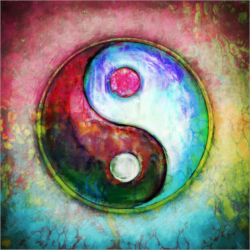 dirk czarnota yin yang colorful painting 4 poster posterlounge