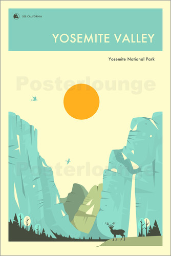 Poster YOSEMITE NATIONAL PARK POSTER