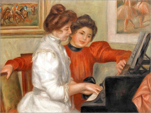 Poster Yvonne and Christine Lerolle at the piano