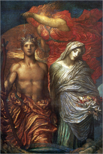 George Frederic Watts - Time Death and Judgement