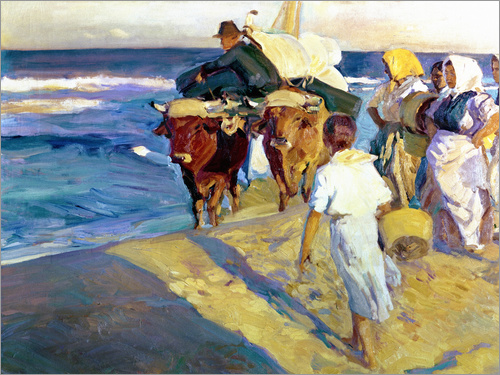 Joaquin Sorolla y Bastida - Towing in the boat, Valencia