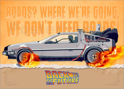 Poster Back to the Future - DeLorean DMC-12 Alternative
