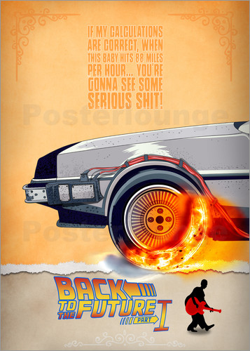 Poster Back to the Future - Minimal Movie - Part 1 of 3 Alternative