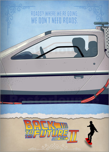 Poster Back to the Future - Minimal Movie - Part 2 of 3 Alternative