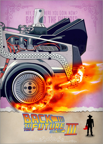Poster Back to the Future - Minimal Movie - Part 3 of 3 Alternative