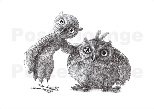 Poster Two Owls - Stan & Oliver