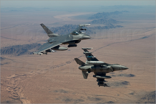 HIGH-G Productions - Two F16 on a training mission