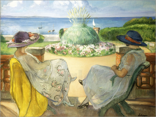 Henri Lebasque - Two Young Women on a Terrace by the Sea
