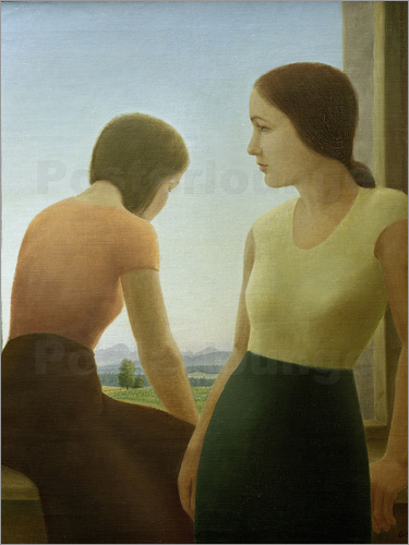 Georg Schrimpf - Two girls at the window