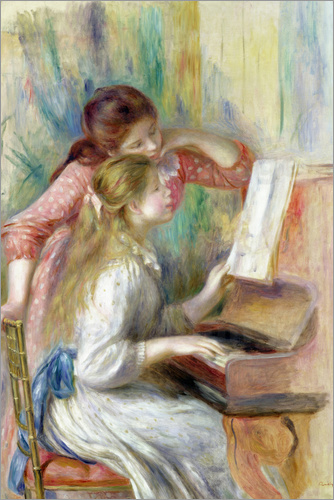 Poster Young Girls at the Piano