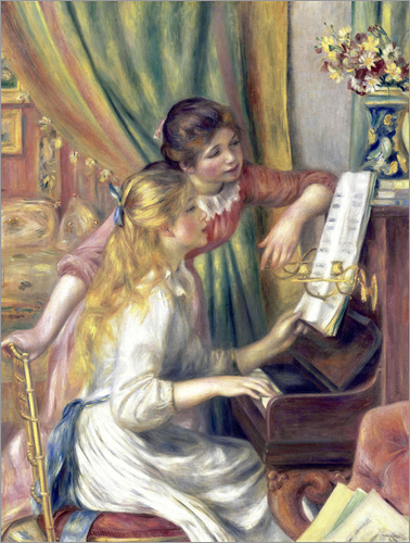 Poster Two girls at the piano