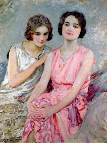 William Henry Margetson - Two Young Women Seated