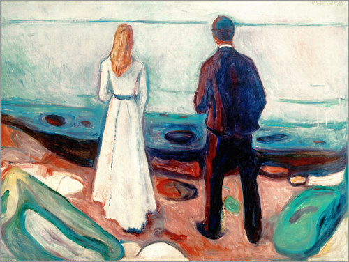 Edvard Munch - Two people. The lonely