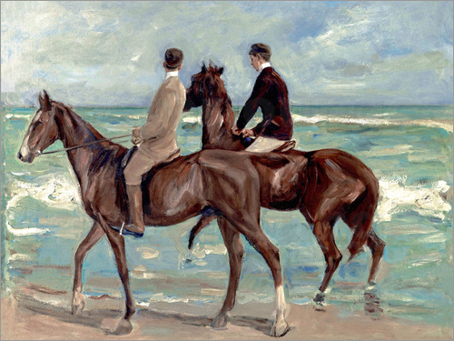 Max Liebermann - Two riders on the beach