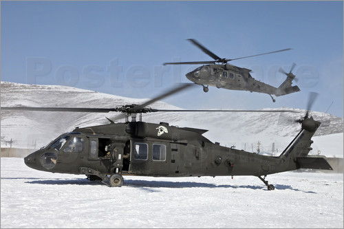 Stocktrek Images - Two U.S. Army UH-60 Black Hawk helicopters