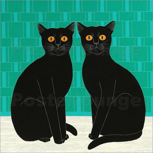 posters affiches de twin cats posterlounge. Black Bedroom Furniture Sets. Home Design Ideas