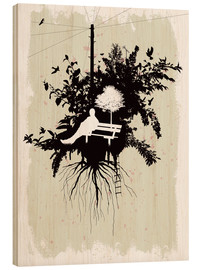 Wood print  Pause and think - Rob Hare