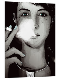 Foam board print  smoking #1 - Sergio Laskin
