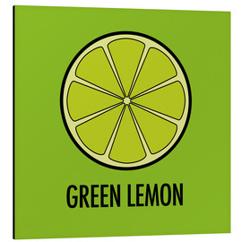 Alu-Dibond  Green Lemon Juice - JASMIN!