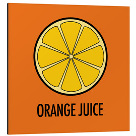 Aluminium print  Orange Juice - JASMIN!