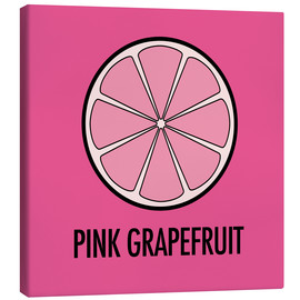 Canvas print  Pink Grapefruit Juice - JASMIN!