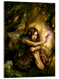 Acrylic print  Elf with butterfly - Karsten Schreurs