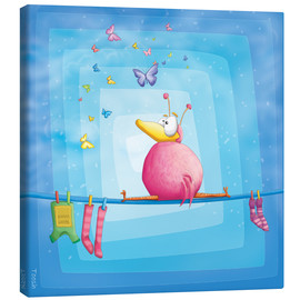 Canvas print  blue bird - Tooshtoosh