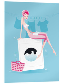 Acrylic print  launderette - Ping Lee