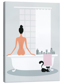 Canvas print  Bathing kitty - Ping Lee