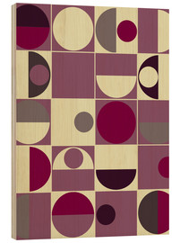 Wood print  panton malve - Mandy Reinmuth