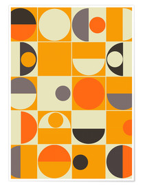 Premium poster  Panton orange - MiaMia